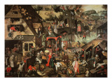 Flemish Proverbs Giclee Print by Pieter Bruegel the Younger