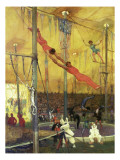 Trapeze Artists Giclee Print by Francis Luis Mora