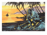 Marooned Man Giclee Print by Ron Embleton