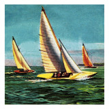 Sailing Boats Giclee Print by  McConnell