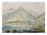 View of Snowdon Giclee Print by Rev. Richard Salvey Booth