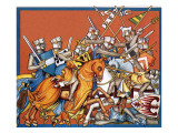 Medieval Battle Giclee Print by  Escott