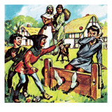 Man in the Stocks Giclee Print by English School