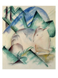 Sleeping Deer Giclee Print by Franz Marc
