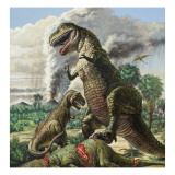 Dinosaurs Giclee Print by  Green