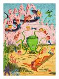 Mermaid Folk Giclee Print by  English School