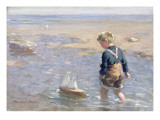 The Toy Boat Giclee Print by William Marshall Brown
