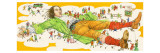 Gulliver&#39;s Travels Giclee Print by English School 