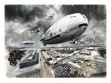 Airship Giclee Print by Wilf Hardy