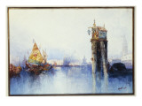 On the Canal, 1896 Premium Giclee Print by  Moran