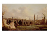 London Bridge Giclee Print by William Marlow