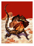 Frilled Lizard Giclee Print by Peter Jackson