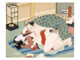 Couple Having Sex Reproduction procédé giclée par Japanese School