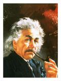 Albert Einstein Premium Giclee Print by  English School