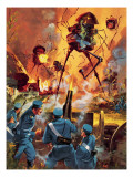 War of the Worlds Giclee Print by Barrie Linklater