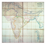 Map of India, 1857 Giclee Print by  English School