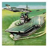 Aircraft Carrier Giclee Print by  Escott