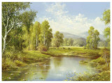 A River Landscape Prints by H. Buchner