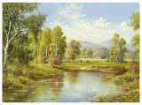 A River Landscape Prints by H. Buchner
