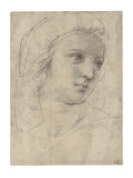 Head of a Muse Reproduction procédé giclée par  Raphael