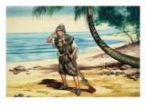 Robinson Crusoe Giclee Print by Ron Embleton