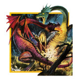 Dragons Fighting Giclee Print by Andrew Howat