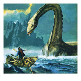 Loch Ness Monster Giclee Print by  English School