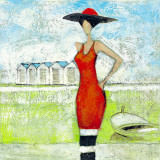 Robe de Plage I Poster by  Lecompte