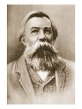 Frederick Engels Giclée-tryk af German School