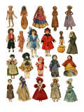 Assorted Dolls Giclee Print by  English School