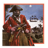 Captain Kidd Giclee Print by Graham Coton
