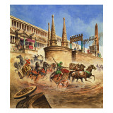 Chariot Race Giclee Print by Peter Jackson