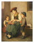The Zither Player Gicl&#233;e-Druck von Franz Von Defregger