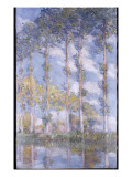 The Poplars, 1881 Giclee Print by Claude Monet