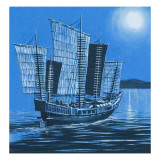 Chinese Ship Giclee Print by Ron Embleton