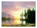 Yosemite Valley Giclée-tryk af Albert Bierstadt