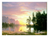 Yosemite Valley Giclee Print by Albert Bierstadt