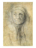Head of a Woman Giclee Print by  Michelangelo Buonarroti