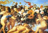 Putti Con Ghirlanda I Poster by C. Maratta
