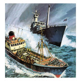 The Cod War Giclee Print by English School
