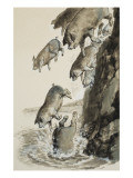 Gadarene Swine Giclee Print by Clive Uptton