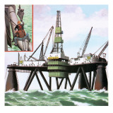 North Sea Oil Giclee Print by John Keay