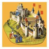 Chateau Gaillard Giclee Print by  Escott