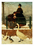 Frozen Out Giclee Print by George Dunlop Leslie