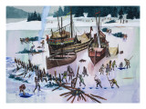 Icebound Giclee Print by Ron Embleton