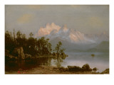 Mountain Canoeing Giclee Print by Albert Bierstadt