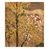 Autumn Tree Reproduction procédé giclée par Japanese School