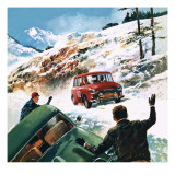 Monte Carlo Rally Giclee Print by  English School