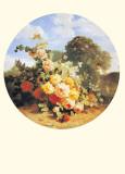 Paysage À la Fleur II Print by A. Raoux