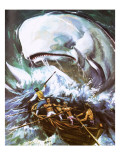 Moby Dick Giclee Print by  English School